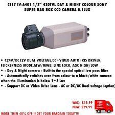 """CL17 IV-A401 1/3"""" 420TVL Día y Noche Color Sony Super tenía CCD cámara de caja 0.1LUX"""