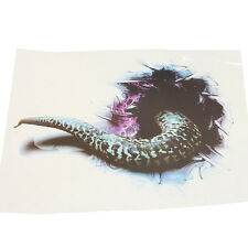 3D Stereo Simulation Funny SUV Sticker Rattlesnake Snake Tail Door Hood Decal