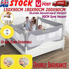 90CM Height Adjustable Folding Kids Safety Bed Rail/BedRail Cot Guard Protecte