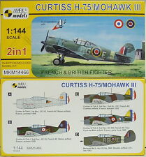 Curtiss H-75 / Mohawk III, France U. RAF, Mark 1, 1:144, Double Pack, NEW