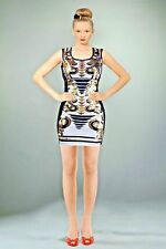Gold and Black Sleeveless Bodycon Dress by Sabora - Made in U.S.A.