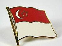 Singapur Flaggen Pin Anstecker,1,5 cm,Neu mit Druckverschluss