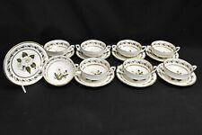 Royal Worcester Bernina Set of 8 Cream Soup Bowls & Saucers