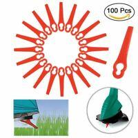 100 Kunststoffmesser Ersatzmesser / Messer /Nylon passt für Akku Rasentrimmer BS
