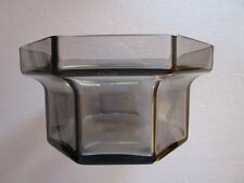"""RETRO   WEDGWOOD by FRANK THROWER """"BRUTUS"""" HEXAGON LEAD CRYSTAL SERVING DISH"""