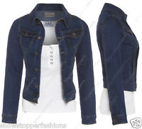 NEW Plus Size 14 16 18 20 22 24 DENIM JACKET Women's Jean Jackets Ladies Blue