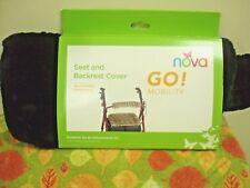Nova Medical Products Seat & Back Cover For Rolling Walker, Black