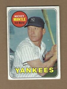 1969  TOPPS  MICKEY  MANTLE  #  500   NICE