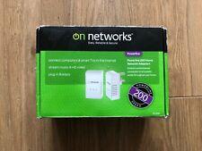 On Networks Powerline 200 Home Network Adaptor - 4 Pack