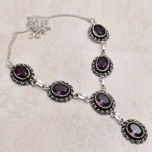 Amethyst Ethnic Handmade Necklace Jewelry 29 Gms  AN 70259
