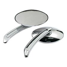 Chrome Oval Custom/Chopper Mirrors PAIR for HARLEY DAVIDSON MOTORCYCLES H980740