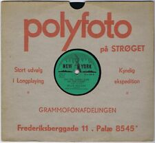 """78 Rpm BILLIE HOLIDAY On The Sunny Side of The Street Danish 1953 New York 10"""""""