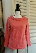 NWT Talbots Pink Boat Neck  popover top sz SP