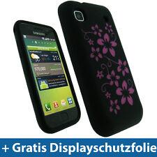 Schwarz Silikon Tasche für Samsung Galaxy S i9000 Hülle Case Skin Etui