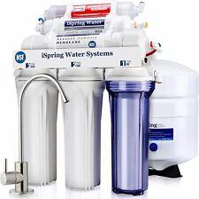 iSpring RCC7AK 6-Stage Under Sink Reverse Osmosis Drinking Water Filter System,