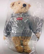 Supreme Steiff Bear Company Ash Grey Box Logo Teddy Elmar Bear FW18 One Size
