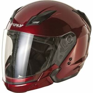 Fly Racing Tourist Open Face Modular Helmet - Candy Red, All Sizes