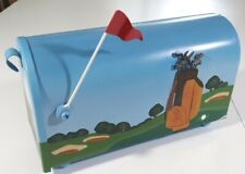 Golf Course Mailbox Post Mount - Hand Painted With Mount (B3)