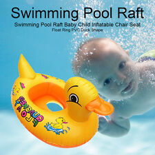 INFLATABLE BABY FLOAT BOAT SWIMMING POOL RAFT CHILD CHAIR RING PVC DUCK SHAPE
