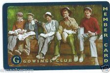 TESSERA SYDNEY GOWINGS CLUB MEMBER CARD AUSTRALIA 2000
