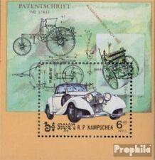 Cambodge Bloc 139 (complète edition) neuf avec gomme originale 1984 Voitures