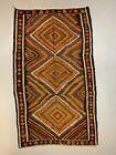 Vintage Turkish Bakhtiari Kilim 313x186 cm Kelim Wool Rug Large Red, Black Brown