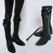 Mens Boys 1/3 BJD Doll Cool Black Shoes Leather Dollfie SD Luts High Boot