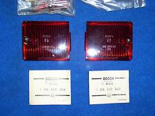 2  Original Bosch Opel Kadett B Coupe L+R Rücklichtglas Rücklicht  65 - 67  NOS