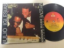 Julio Iglesias, Stevie Wonder, My Love EXc, R&B 1988 7`` Record