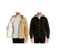 NEW!! Jach's Men's Sherpa Lined Hooded Canvas Shirt Jacket Variety