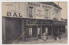TOP CPA 95840 VILLIERS ADAM Maison Guébet Commerce de Vins Edit GUEBET ca1910