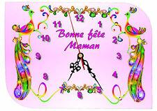 horloge fête des mères bonne fête maman réf FM21 personnalisable