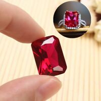 18.52CT AAAA+ EXQUISITE PIGEON BLOOD RED RUBY EMERALD CUT LOOSE GEMSTONE GIFTS