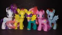 "5 G4 My Little Pony MLP Brushable 3"" Inch Horse Bundle Lot 2011 2010 Ponies B"