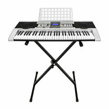 Electronic Piano Keyboard 61 Key Music Key Board Piano With X Stand Heavy D