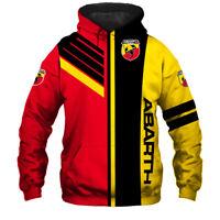 Abarth/500/500C/124 Spider/695 Biposto/Punto Evo/Men's Hoodie 3D-Hot Gift Sports