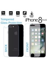 Premium Real Front and Back Tempered Glass Film Screen Protector iPhone 8 Plus
