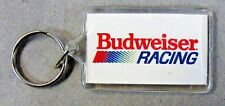 1980's color BUDWEISER RACING Hydroplane & Auto KEYCHAIN key ring keychain Beer