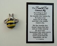 h BumbleBee cannot fly POCKET TOKEN CHARM impossible is possible figurine bee
