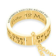 Kette Ring Gravur gold personalisierte Halskette Taufe Kommunion Taufring