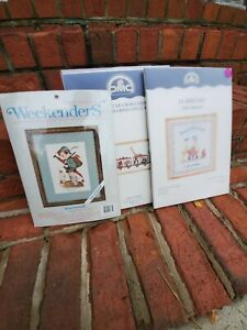 Lot of 7 Vintage Needlepoint Kits - Bucilla, Needle Treasures, Creative World