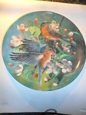 Edwin Knowles The Bluebird Collectors Plate 1986