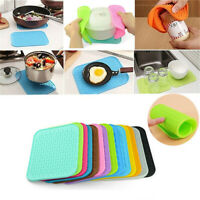 1Pc Silicone Kitchen Holder Mat Pot Tray Straightener Heat Non-slip Resistant