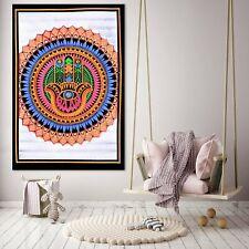 Tapestry Hamsha Poster Bohemian Art Decor Wall Hanging Dron Fab Handmade Mandala