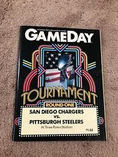 1983 AFC Playoffs Program Steelers/Chargers Three Rivers RARE Only 1 On eBay