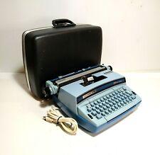 Smith Corona Coronet Super 12 Electric Typewriter Baby Blue W Case Tested Works