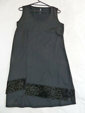 TS Taking Shape XS Black Flocked Sleeveless Dress