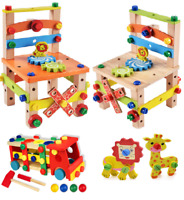 Wooden Assembling Chair Montessori Toys Baby Educational Wooden Toy Learning