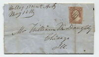 1857 Holley Mount AR manucript on #11 folded letter [H.212]