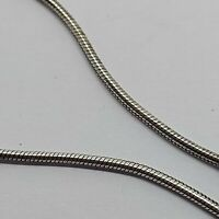 "Sterling silver solid 925 bracelet chain bangle Az950 7"" snake charms plain ."